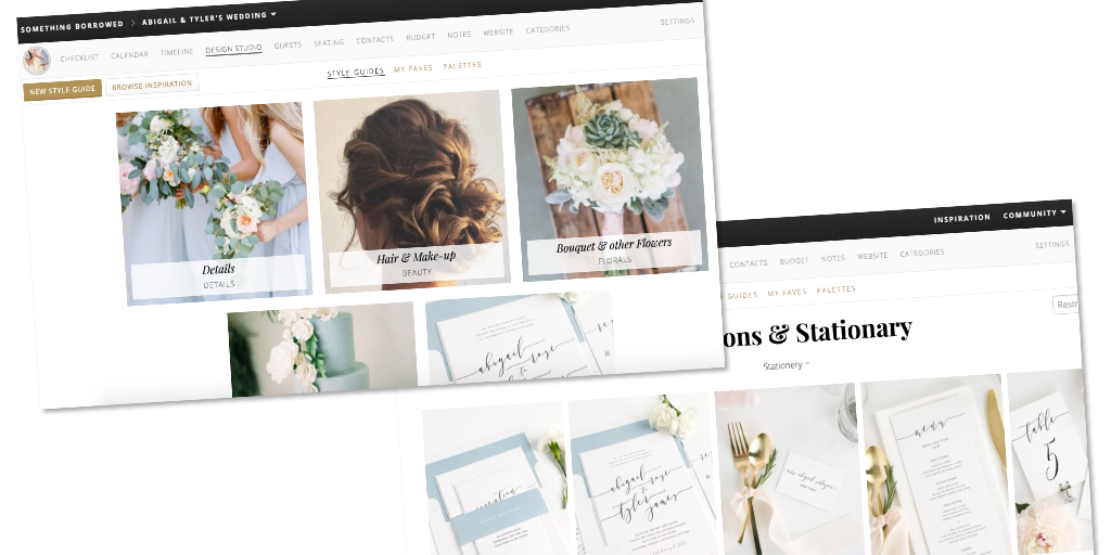 Wedding planner tool - Inspiration